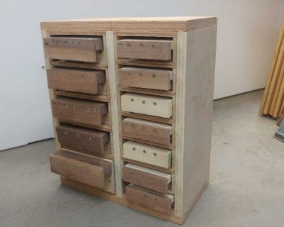 Organizer- Wood small parts cabinet, 14 drawers (model #3)