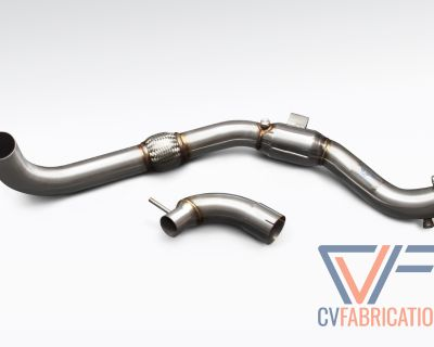 """CVF 3"""" Stainless Steel Catted Downpipe for 2015+ Mustang EcoBoost"""