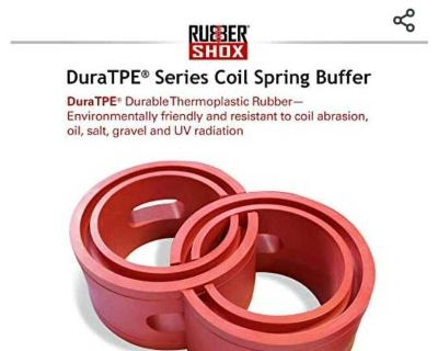 U.S. Rubbershox DuraTPE Series front rear car coil spring buffer cushion automotive suspension shock absorber performance booster kit