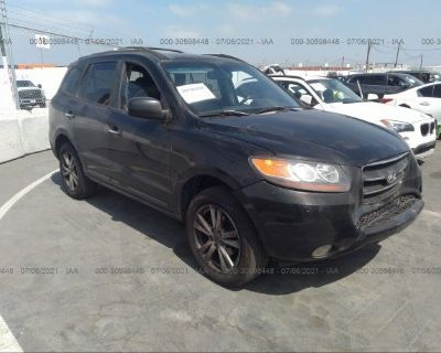 Salvage Black 2007 Hyundai Santa Fe
