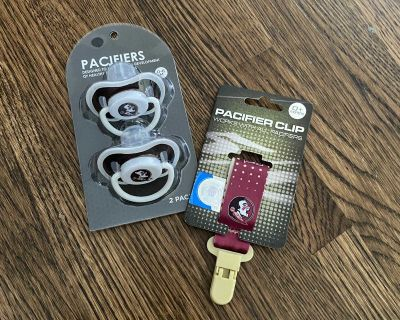 FSU Pacifier Clip and Pacifiers