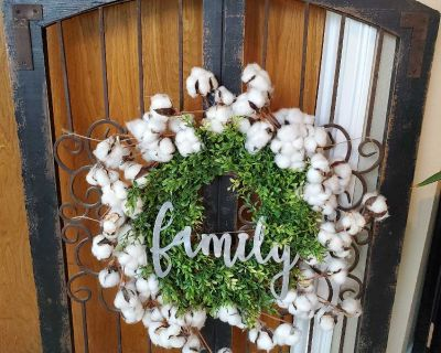 """30"""" 40"""" rustic window frame with wreath"""