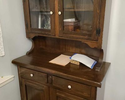 Brown storage with hutch