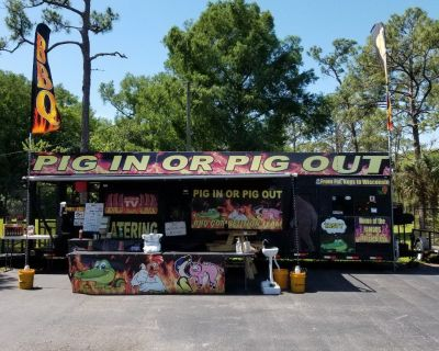 35ft catering/BBQ trailer with living quarters