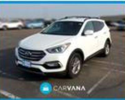 2017 Hyundai Santa Fe White, 38K miles