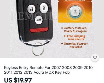 Acura Rsx keyless entry (MDX RDX remote )