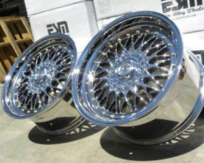 18x9.5 18x8 Et20 Esm-002r Wheels Rims 5x120 5x114.3 Honda Civic Accord Nissan