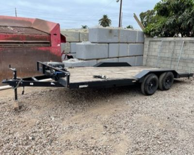 8.5' x 18' 2021 Drive Over Deck Utility Trailer