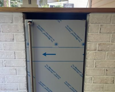 FS/FT Outdoor Kitchen Appliances, Stainless Fridge, Trash Drawer