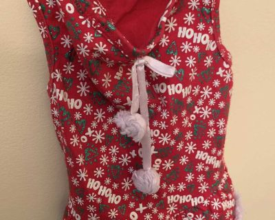 Doggie Christmas Dress. Size small stretchy material pulls on easy. Excellent condition very clean smoke free
