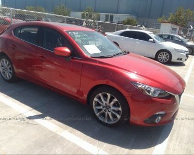 Salvage Red 2014 Mazda Mazda3