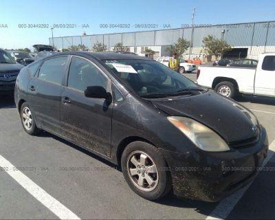 Salvage Black 2005 Toyota Prius