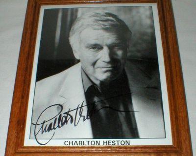 Charlton Heston (1923-2008) Autographed Photo - Framed