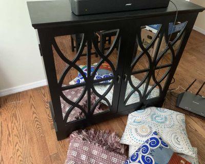 Black tv cabinet