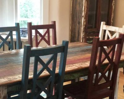Handcrafted Rancho Dining Table & Hutch Cabinet