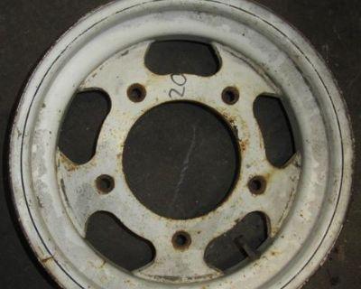 Vw Baja Bug 15X6 5 Lug White Steel Wheel #20