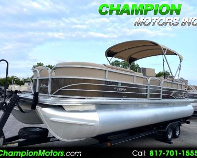 Used 2018 Sun Tracker Party Barge Sport Party Barge 24 XP3 DLX w/Mercury 150hp 4S
