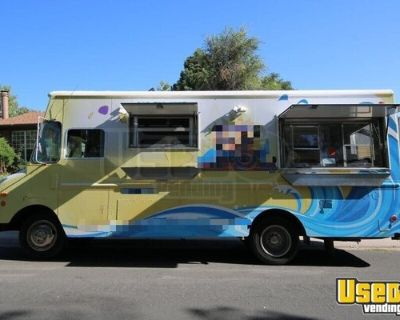 GMC Loaded Step Van Food Truck / Used Commercial Mobile Kitchen