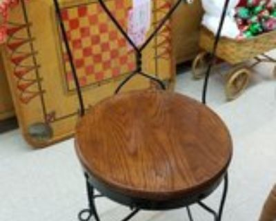 Black Iron and Wood Ice-Cream Parlor Chair #1185-128