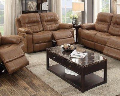 "Brand New Sofa Set 3 piece Brown Reclining ""WHOLESALE"""