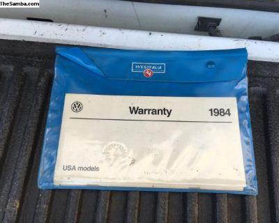 1984 Manuals And Westfalia Folder