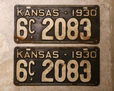ISO Old License Plates and License Plate Toppers