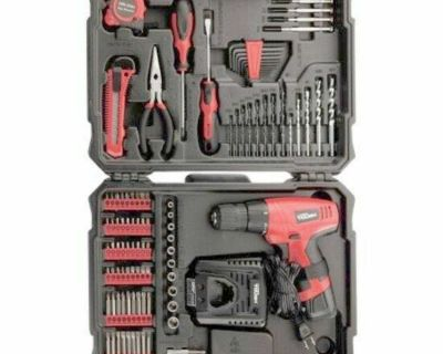 New!!!!!12V Electric Cordless Drill/Driver Project Tool Kit Long-lasting Battery 104PC