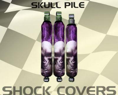 Honda 300x Purple Lightning Skull Pile Shock Cover #lwa12835 Xde4845