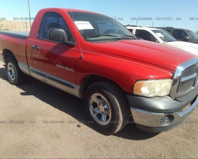 Salvage Red 2003 Dodge Ram 1500