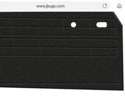 Karmann Ghia Conv TMI Black Tweed Door Panels