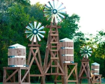 Rustic Americana Windmill Decor, Windmills and Water Tower