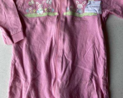 6/9 months bunny pajamas