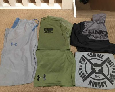 Youth XL lot 12 items of Under Armour, Champion, Reebok clothes