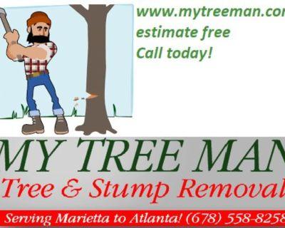 🔖🔥Tree Cut & Stump Removal Service's (678)558-8258 www.mytreeman.com