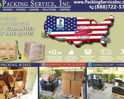 Packing Service, Inc. Professional Shipping and Packing Boxes - Fort Lauderdale, Florida