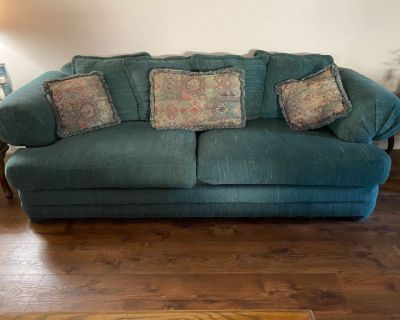 Free couch and oversized chair and ottoman