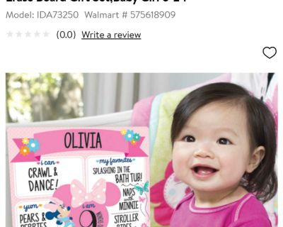 Disney Minnie Mouse milestone photo prop dry erase board, new