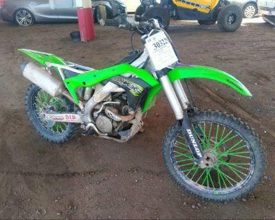 Salvage Green 2018 Kawasaki Kx252