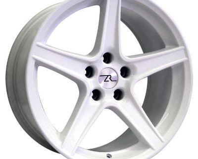 "White Mustang Saleen Wheels 18x9 & 18x10 Inch 18"" 1994-2004 Rims 1995 2000"