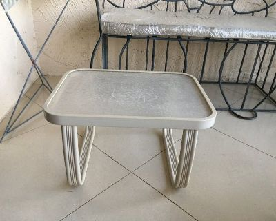 2 Square Glass Tables