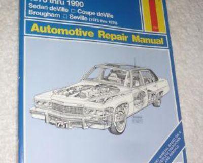 Haynes Cadillac Rear Wheel Drive Models 1970 Thru 1990 Repair Manual