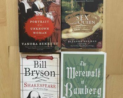 Lot of four books, historical fiction/nonfiction