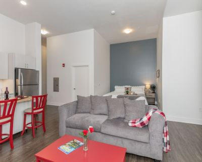 Spacious Studio Apt Downtown/Mass Ave King Bed Free Parking Dog Friendly - Mile Square