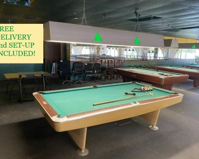 Brunswick Gold Crown 9' Pool Table-FREE DELIVERY and SET-UP INCLUDED