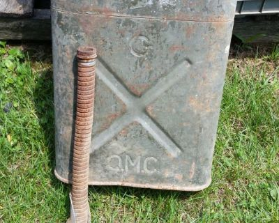 JEEP US Military 1945 WWII Jerry Can USA Army Green Gas Can w/Spout Free S/H