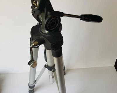 """E.V. tripod, as shown measures 26"""" - will prob extend with both sections to 5 ft tall"""