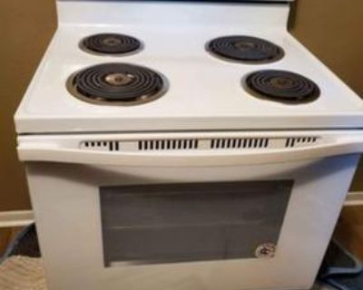 White electric whirlpool stove