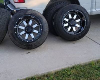 Dodge ram 1500 20 inch aftermarket rims and tires