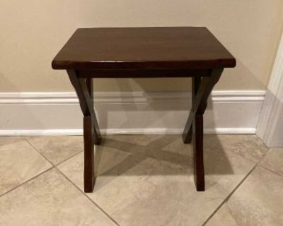 Small Solid Wood Table in Very Good Condition