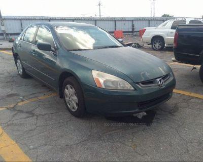 Salvage Green 2003 Honda Accord Sdn